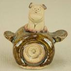 一品物添景太古窯 家門作「小槌の上、イヌ」[高:約6.5cm  間口:約7cm]小道具伊予路園