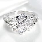 pt900 プラチナ ダイヤモンド ダイヤ 指輪 リング フラワー 花 大粒 3.00ctUP SIクラス 3カラット 人気 FYR0225