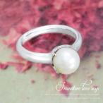 ベビーリング レディース メンズ 4mm パール丸玉 指輪 リング シンプル 男性 女性 ペア にも 大きいサイズ マリッジ 可愛い おしゃれ
