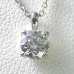 ネックレス レディース ダイヤモンド 一粒 プラチナ 0.2カラット 鑑定書付 安い 0.277ct Eカラー VVS1クラス 3EXカット H&C CGL