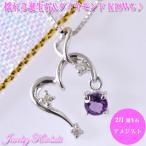 アメジストネックレス  ダイヤモンド K18ホワイトゴールド 2月誕生石   誕生日プレゼント 誕生日  ジュエリー アクセサリー