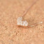 K10PG ピンクゴールド ハートダイヤモンドネックレス 誕生日  ジュエリー アクセサリー  プレゼント