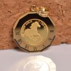 コインペンダント 馬 / クイーンエリザベスII コイン 24金 枠 18金 1/25オンス  誕生日 ジュエリー アクセサリー プレゼント