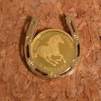 コインペンダント 馬 ホース / クイーンエリザベスII コイン 24金 枠 18金 1/25オンス  誕生日 ジュエリー アクセサリー プレゼント