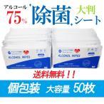送料無料 除菌シート ウエットティッシュ アルコール 75% 個包装