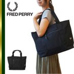 FRED PERRY フレッドペリー 公式 トートバッグ 鹿の子 ファスナー付き F9240 PIQUE TOTEBAG