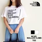 ノースフェイス Tシャツ レディース THE NORTH FACE ウォール クライム 半袖 プリント ロゴ カットソー NF0A3S3S M SS WALLS CLIMB TEE 【ネコポス対象商品】