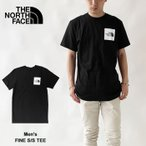ノースフェイス Tシャツ THE NORTH FACE ボックスロゴ 半袖 クルーネック メンズ レディース M FINE S/S TEE (NF0A55UX) 【2021AW 新作】【ネコポス対象商品】