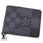 LOUIS VUITTON  ルイ ヴィトン N60434 ダミエ・グラフィット 3D 小銭入れ無し 二つ折り財布 ポルトフォイユ・ミュルティプル 札入れ