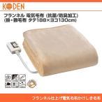 広電 フランネル仕上げ電気毛布しき毛布 (188×130cm) CWK801-NC