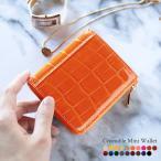 コンパクトウォレット 財布 クロコダイル シャイニング ヘンローン L字 ファスナー / レディース 送料無料