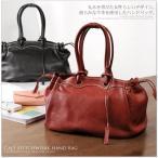 [お買得価格]カーフ 牛革 ステッチワーク ハンドバッグ A4 通勤バッグ