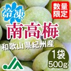 氷梅 冷凍南高梅(梅酒用・梅ジュース用) 500g×1袋 〜冷凍梅 和歌山県紀州産青梅