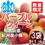 氷梅 冷凍パープルクィーン(梅酒・梅ジュース用) 400g 3袋 〜冷凍梅 紀州産小梅 パープルクイーン