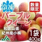 氷梅 冷凍パープルクィーン(梅酒・梅ジュース用) 400g 1袋 〜冷凍梅 紀州産小梅 パープルクイーン