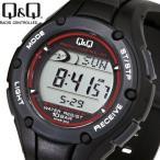 シチズン時計Q&Q 電波ソーラー腕時計 ランニングウォッチ 10気圧防水 MHS6-300 送料無料