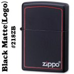 zippo(ジッポーライター)218BLACK MATTE(ブラックマット)ZIPPOロゴライン入り#218ZB(ネコポス対応)