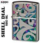 zippo(ジッポーライター) Shell Dial シェルダイアル 貝貼り シェル 深彫り彫刻銀ポリッシュ仕上げSDZ-BL(ネコポス対応)
