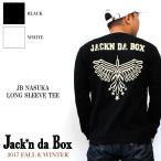 Jack'n da Box    JB NASUKA LONG SLEEVE TEE ジャッキンダボックス 長袖 ロンT ナスカの地上絵  新作 リブ 厚手 しっかり ストリート スケート ブランド