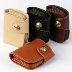 【REDMOON/レッドムーン】サドルレザー ショートウォレット 折りたたみ革財布(HR-01C-MID)
