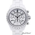 シャネル CHANEL J12 オートマティック クロノグラフ ダイヤベゼル H1008 【新品】 時計 メンズ