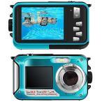 デジカメ 防水 防水カメラ デジカメ 水中カメラ デジタルカメラ スポーツカメラ 1080P 24.0MP デュアルスクリーン