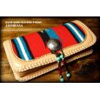 手縫い革財布 ハンドメイドオルテガラグロングウォレット YOL-3