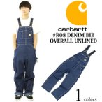 �����ϡ��� Carhartt R08 �ǥ˥� �ӥ� �����С������� �ꥸ�åɥǥ˥�  (DENIM BIB OVERALL UNLINED��