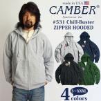■バンダナプレゼント■キャンバー CAMBER 531 ジップフードパーカー MADE IN USA  (米国製 チルバスター フードスウェット)