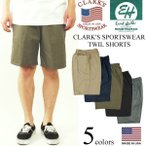 クラークス スポーツウエア(エリックハンター)  ツイルイージーショーツ (アメリカ製 米国製 バギーショーツ チノショーツ CLARK'S ERICK HUNTER)