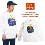マクドナルド 長袖 Tシャツ 波乗りドナルド マリブ店限定 ホワイトメンズ レディース S-XXXL McDonald's ロンT 海外買い付け商品