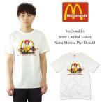 ■ポイント10倍■海外買い付け商品 マクドナルド サンタモニカ店限定 半袖Tシャツ ホワイト(McDonald's)