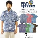 レインスプーナー REYN SPOONER 半袖 フルオープン アロハシャツ 60th アニバーサリー (Anniversary 60周年 限定柄)