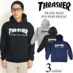 スラッシャーマガジン THRASHER フードスウェット プルオーバー スケートマグ ブラック(パーカー SKATE MAG)