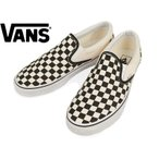 ショッピングvans スリッポン バンズ VANS 米国規格 クラシック スリッポン ブラック/ホワイト チェッカー (ヴァンズ スリップオン CLASSIC SLIP-ON Black and White Checker)
