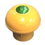 【送料無料】【単管キャップ(エコキャッピカ)黄色200個セット(強力反射シール付き)樹脂製。Φ48.6単管パイプ等に。エンドキャップ(アラオ製)
