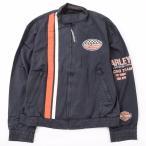ハーレーダビッドソン Harley-Davidson リフレクターロゴパッチ レーシングジャケット USA製 メンズL 【中古】 【200130】 /eaa001143