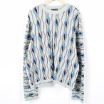 クージー COOGI 総柄 コットンニットセーター オーストラリア製 メンズXXL 【中古】 【170914】 /wah5622
