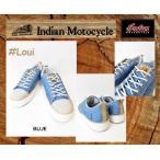 インディアンモーターサイクル   スニーカー  blue ブルー 26cm 品番 Loui  / IND-11504  INDIANMOTOCYCLE