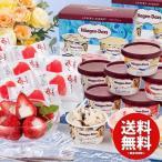 お中元 御中元 ギフト アイス アイスクリーム ハーゲンダッツ&苺アイス 送料無料 A-HGD 詰め合わせ
