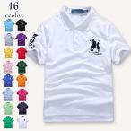 ポロシャツ メンズ 半袖 無地 POLO ビジネス カジュアル ポロ ゴルフウェア ポロTシャツ カラー配色 16色展開 新作の画像