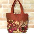 ムーミン ゴブラン織り  トートバッグ・リトルミィ 「花といっしょ」 0221-46 (送料250円より)
