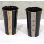 ペアゴブレット 金銀ライン (ゴールド シルバー、結婚祝い、記念品、父の日) (0622-07)