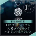 松屋銀座特選 DカラーSIクラス 天然ダイヤモンドペンダントネックレス1ct