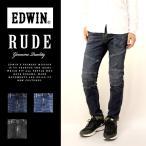 EDWIN エドウイン /  ルード スキニー RUDE SKINNY バイカー パンツ テーパード スリム タイト デニム ジーンズ パンツ メンズ エドウィン / KRU22