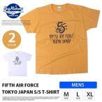ショッピングFORCE BUZZ RICKSON'S バズリクソンズ メンズ 半袖 5th AIR FORCE プリント Tシャツ 米国製 BR77897
