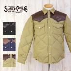 SUGAR CANE シュガーケーン/Leather York Down Jacket レザー ヨーク ダウン ジャケット ウエスタン 60/40クロス/SC13069