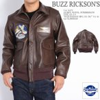 バズリクソンズ BUZZ RICKSON'S TYPE AN-J-3 BUZZ RICKSON MFG. CO. INC VA-48 レザー フライトジャケット BR80429