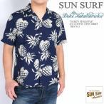 """SUN SURF サンサーフ メンズ アロハシャツ デューク カハナモク """"DUKE'S PINEAPPLE"""" S/S COTTON OPEN SHIRT コットンハワイアンシャツ DK37811-128"""