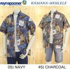 Kamaka Ukulele &レインスプーナーReyn spooner カマカ アロハシャツ、100周年記念コラボモデル、半袖シャツ、Made In USA ハワイ